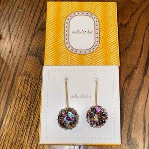 Stella & Dot multi-color Confetti Drop Earrings